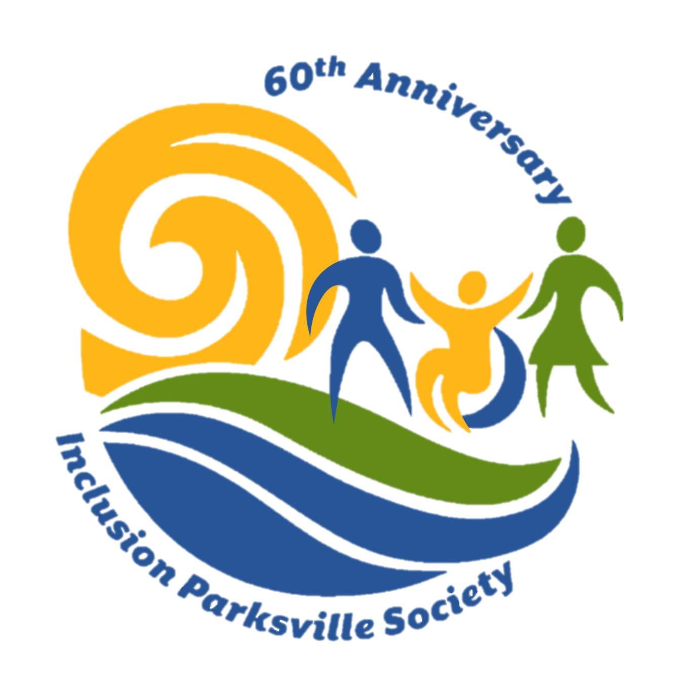 IPS Logo Color Inclusion Parksville Society 60th Anniversary No Background